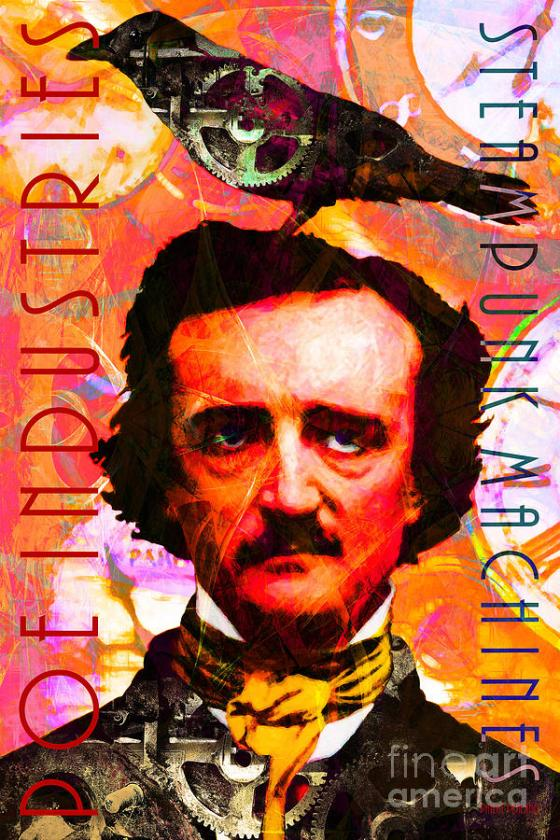 alan, allan, allen, amy's baking company, and, author, bright, celebrity, classic, clock, clocks, color, colorful, crow, crows, dark, dream, dreams, edgar, edgar allan poe, face, faces, famous people, fantasy, fun, funny, gear, gears, goth, halloween, history, humor, humorous, kitsch, kitschy, machine, machines, nostalgia, nostalgic, old, people, poe, poems, poetry, poets, portrait, portraits, punk, raven, ravens, satire, steam, steam punk, steampunk, surreal, surrealism, text, the, victorian, vintage, whimsical, wing tong, wingsdomain, word, words, writer