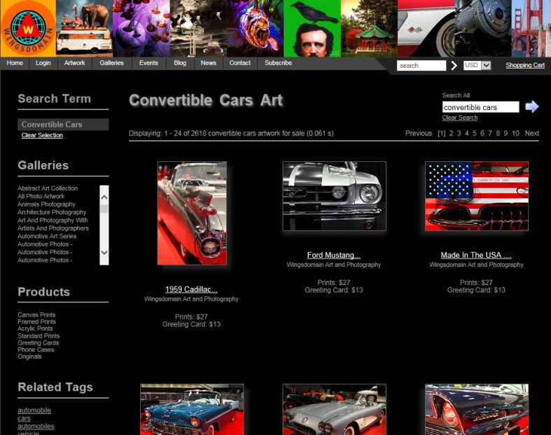 wingsdomain-artistwebsites-search-results-screenshot