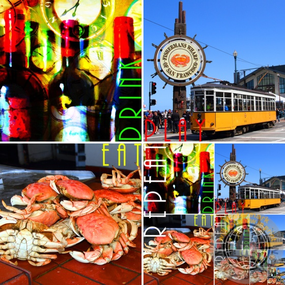 alcohol, andy warhol, bay area, bayarea, beverage, bright, ca, cablecar, california, cheerful, clock, clocks, color, colorful, crab, crabs, drink, dungeness, dungeness crab, eat, eating, entertainment, explore, fishermans wharf, fishermens wharf, food, foods, fun, happy, kitch, kitchy, of, philosophical, philosophy, pier 39, play, playful, pop, pop art, popart, restaurant, restaurants, san francisco, seafood, sf, size, sizes, spring, square, streetcar, streetcars, summer, text, vibrant, warhol, wing tong, wingsdomain, wisdom, word, words