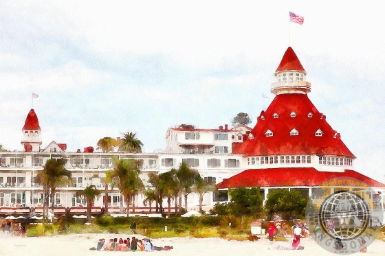 architecture, beach, beach resort, beaches, ca, california, cheerful, classic, coronado, coronado hotel, coronado island, cottage, del cor, del coronado, del coronado hotel, delcor, fun, happy, historical, hospitality, hotel, hotel del cor, hotel del coronado, hotel delcor, hotel resort, hotel resorts, hotels, island, islands, landmark, motel, motels, ocean, old, pacific ocean, resort, resorts, san diego, sand, sandy, south, southern california, the del, vacation, victorian, villa, vintage, watercolor, wing tong, wingsdomain