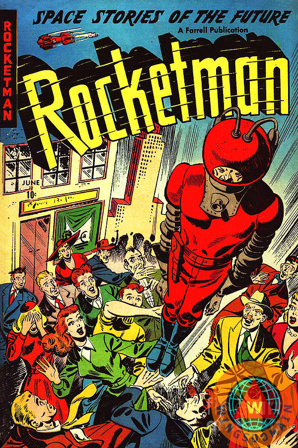 Vintage Comic Book Cover : Classic comic book cover rocketman by wingsdomain art and