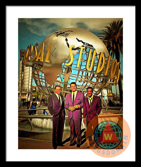 The Rat Pack Frank Sinatra Dean Martin And Sammy Davis Jr At ...
